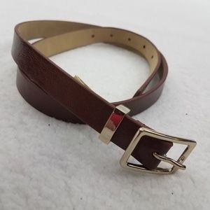~ Loft Size S Womens Brown Waist Belt Faux Leather